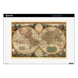 Antique old rare and historic world map decals for laptops