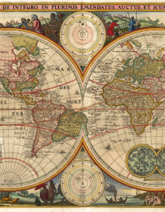 Antique World Map Puzzle.Old World Map Jigsaw Puzzles Zazzle