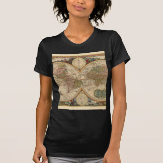 Antique old rare and historic world map T-Shirt
