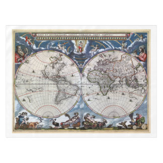 Map tablecloths zazzle antique old world map 1664 restored tablecloth gumiabroncs Gallery