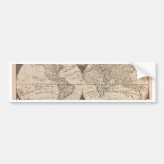 Antique Old World Map 1799 Bumper Sticker