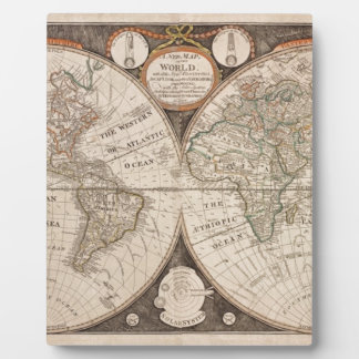 Antique Old World Map 1799 Display Plaques