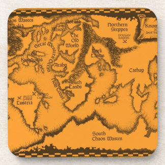 Antique, Old World Map Drink Coaster