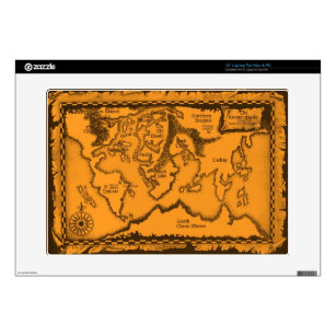 Old World Map Laptop Skins Decals Zazzle - Vintage world map decal