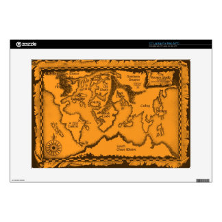 Antique, Old World Map Decals For Laptops