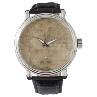 Antique Old World Map History-lover design Watch