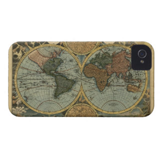Antique Old World Map iPhone 4 Phone Case iPhone 4 Cover