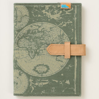 Antique Old World Map Journal