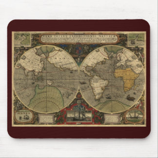 Antique Old World Map Mouse Pad