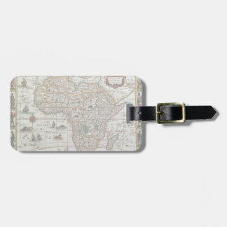 Antique Old World Map of Africa, c. 1635 Bag Tag
