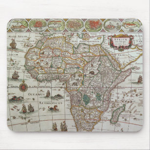 Old Map Of Africa Mouse Pads | Zazzle