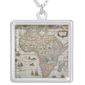 Antique Old World Map of Africa, c. 1635 Pendant