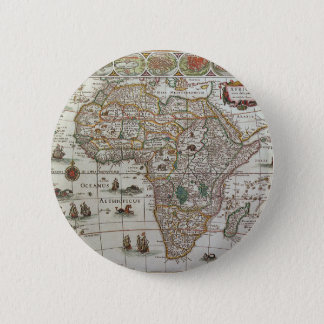 Antique Old World Map of Africa, c. 1635 Pinback Button