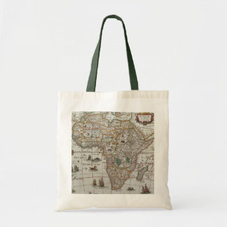 Antique Old World Map of Africa, c. 1635 Tote Bag