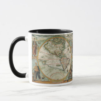 Antique Old World Map of the Americas, 1597 Mug