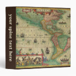 Antique Old World Map of the Americas, 1606 Binders