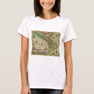 Antique Old World Map of the Americas, 1606 T-Shirt