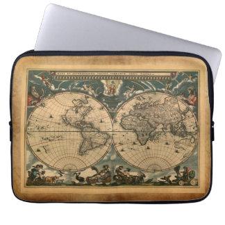 Antique Old World Map Vintage Laptop Sleeve