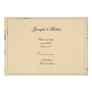 Antique Old World Map Wedding Response Card
