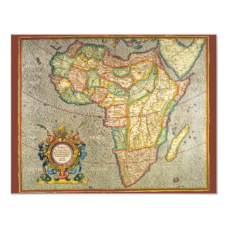 Antique Old World Mercator Map, Africa Invitation