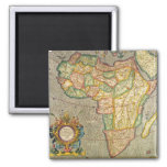 Antique Old World Mercator Map of Africa, 1633 2 Inch Square Magnet