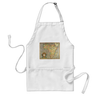 Antique Old World Mercator Map of Africa, 1633 Adult Apron