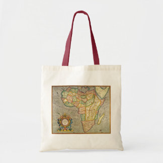 Antique Old World Mercator Map of Africa, 1633 Canvas Bag