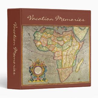Antique Old World Mercator Map of Africa, 1633 Vinyl Binders