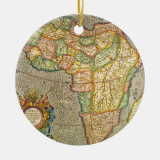 Antique Old World Mercator Map of Africa, 1633 Ceramic Ornament