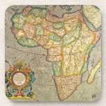 Antique Old World Mercator Map of Africa, 1633 Drink Coasters