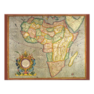 Antique Old World Mercator Map of Africa 1633 Custom Invites