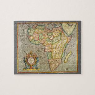 Antique Old World Mercator Map Of Africa, 1633 Jigsaw Puzzle