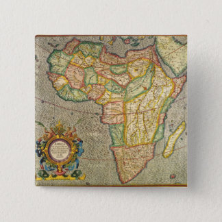 Antique Old World Mercator Map of Africa, 1633 Pinback Button