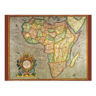 Antique Old World Mercator Map of Africa 1633 Postcard