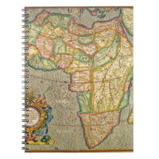 Antique Old World Mercator Map of Africa, 1633 Spiral Notebook