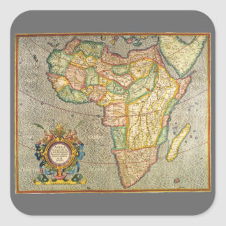 Antique Old World Mercator Map of Africa, 1633 Square Sticker