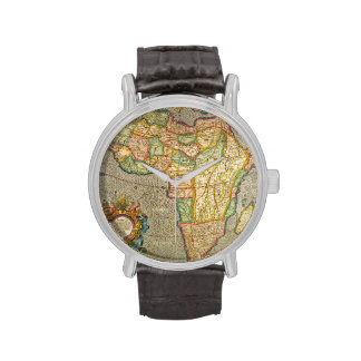 Antique Old World Mercator Map of Africa, 1633 Wrist Watches