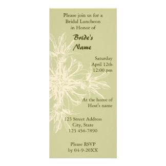Antique Olive Floral Bridal Luncheon Rack Cards
