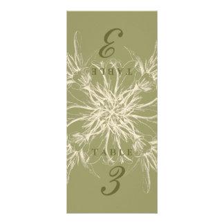 Antique Olive Floral Table Cards Rack Card Design