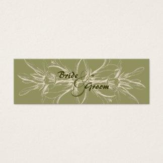 Antique Olive Floral Table Number Cards