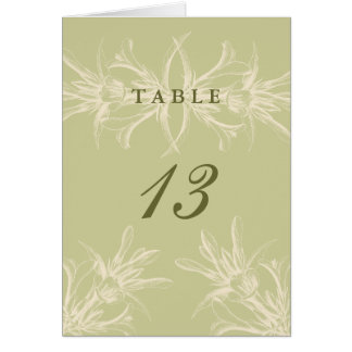 Antique Olive Floral Table Place Cards
