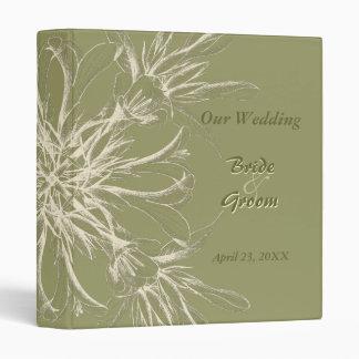 Antique Olive Floral Wedding Albums Binder