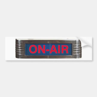 Antique On-Air Sign or On-The-Air Broadcasting Bumper Sticker