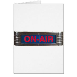 Antique On-Air Sign or On-The-Air Broadcasting Card