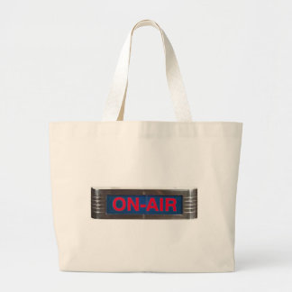 Antique On-Air Sign or On-The-Air Broadcasting Large Tote Bag