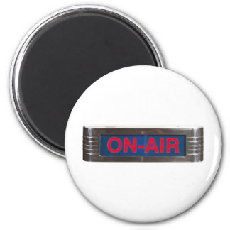 Antique On-Air Sign or On-The-Air Broadcasting Fridge Magnets