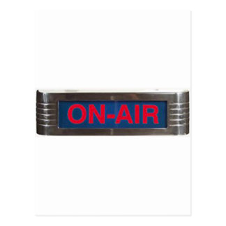 Antique On-Air Sign or On-The-Air Broadcasting Post Card