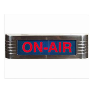 Antique On-Air Sign or On-The-Air Broadcasting Postcard