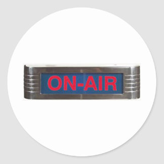 Antique On-Air Sign or On-The-Air Broadcasting Stickers