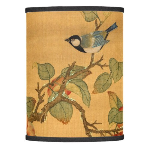 Antique Oriental Chinese Birds And Fruit Lamp Shade